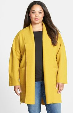 Eileen Fisher Boiled Wool Kimono Coat (Plus Size) available at #Nordstrom