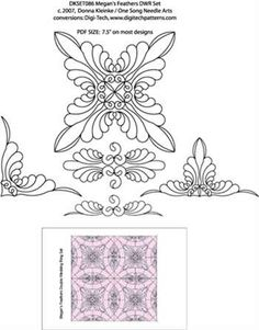 Double Wedding ring quilting design.