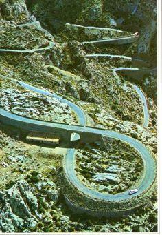 Carretera en coche para llegar a Sa Calobra