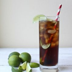 Cuba Libre (rum, coke, and lime)