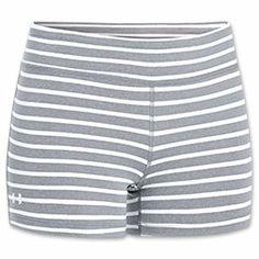 Women's Under Armour Ultimate Shorty Shorts| FinishLine.com | True Grey Heather/White