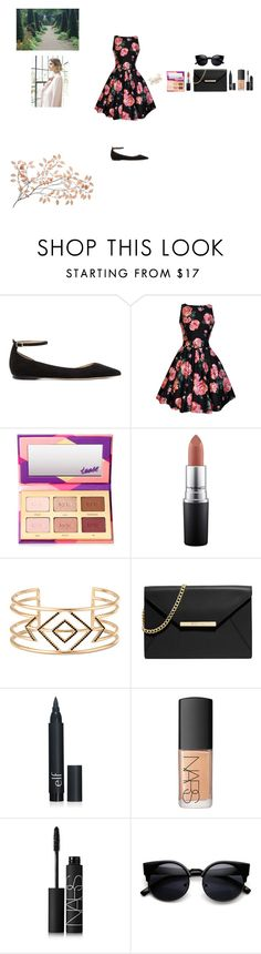 """Spring Flower"" by silly-stegosaurus ❤ liked on Polyvore featuring Jimmy Choo, tarte, MAC Cosmetics, Stella & Dot, MICHAEL Michael Kors, NARS Cosmetics, Nuevo, women's clothing, women's fashion and women"