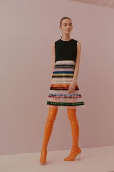 Multicolour Frill Dress. Christian Dior Haute Couture SS15 by Raf Simons.
