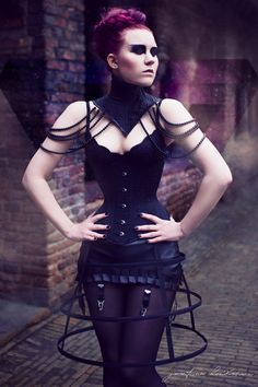 Gothic victorian steampunk mini cage hoop skirt