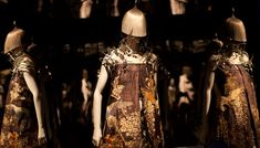 Alexander McQueen: Savage Beauty at the Metrop0litan Museum. 1000 5th Avenue New York, NY 10028.    Open until midnight Saturday August 6th and Sunday August 7th.