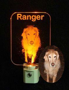 "Personalized Pitbull LED Night Light Handmade Animal Light 3//8/"" acrylic"