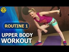 Gold's Gym At Home Workouts - Routine 1 : Upper Body Strengthening - Chest Shoulder Triceps - YouTube