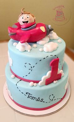 Little Boy Airplane Cake