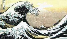 """The Wave"" by Hokusai, renown Japanese woodblock print artist"