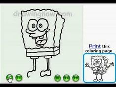 How to draw Spongebob ,step by step drawing tutorial. Learn To Sketch, Learn To Draw, Spongebob Drawings, Youtube Drawing, Step By Step Drawing, Coloring Pages, Website, Cool Stuff, Comics