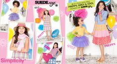 Summer 2012 launch of SUEDEsays™ for childrenswear girls #1816 & #1817.  Designed for Cool, Preppy, & Girly.