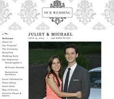 read all about our wedding website!