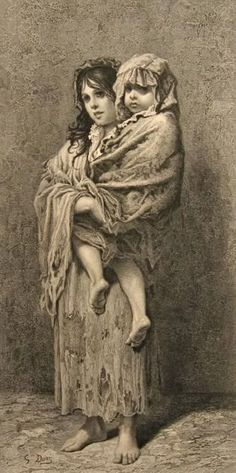 Homeless, Gustave Dore/  From my personal collection