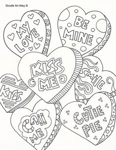 Valentine's Day Doodle Art | Free Printable Coloring Pages | celebrationdoodle.com