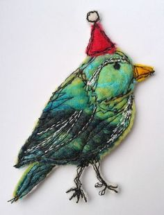 Cute bird with Christmas touch