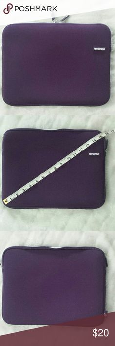 Incase laptop sleeve In very good condition,  has two zipper pulls, and white faux fur interior. incase Bags Laptop Bags