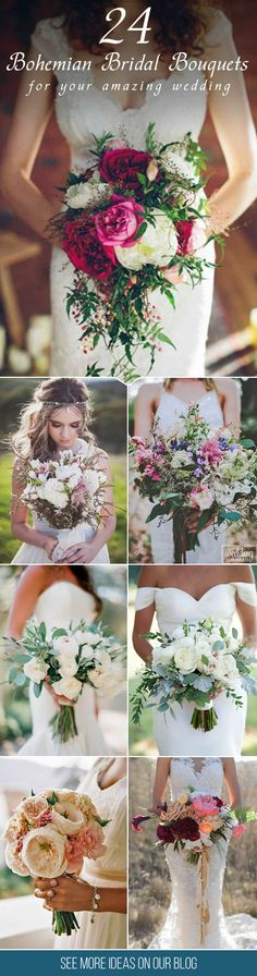 24 Bohemian Wedding Bouquets That Are Totally Chic❤ Bohemian wedding bouquets are full of whimsical details, wild flowers and feathers. This inspiration gallery of boho-chic wedding bouquets is sure to create an amazing vibe. See more: http://www.weddingforward.com/bohemian-wedding-bouquets/ ‎‎#wedding #bouquets