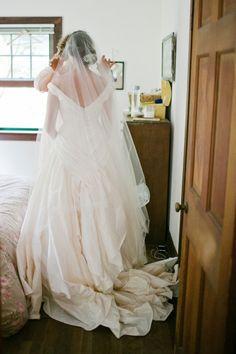 the bride DIY-ed this amazing veil!!!!