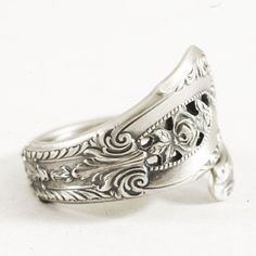 Petite Sterling Silver Spoon Ring in Vintage Rose by Spoonier