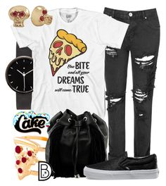 """""""Cakeworthy's """"One Bite"""" T-Shirt"""" by leslieakay ❤ liked on Polyvore featuring I Love Ugly, Glamorous, Glenda López, Steve Madden, Vans, women's clothing, women's fashion, women, female and woman"""