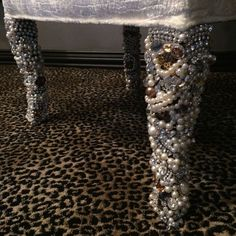 Nice legs! These #blinged out #chairs can only be found at That's Haute! #DonnaMossDesigns http://www.thats-haute.com/
