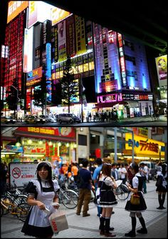 Akihabara, also called Akiba after a former local shrine, is a district in central Tokyo, that is famous for its many electronics shops. In more recent years, Akihabara has gained recognition as the center of Japan's otaku (diehard fan) culture, and many shops and establishments devoted to anime and manga are now dispersed among the electronic stores in the district. #otaku