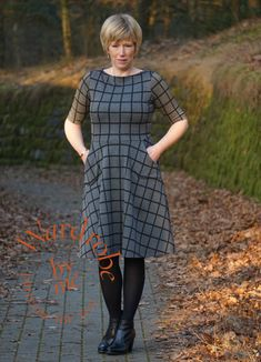 Womens dress PDF sewing pattern in plus sizes