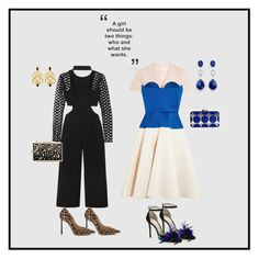 """""""Untitled #145"""" by glambum ❤ liked on Polyvore featuring self-portrait, Delpozo, Manolo Blahnik, Jimmy Choo and Karl Lagerfeld"""