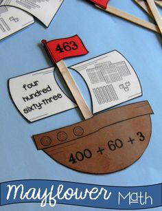 Mayflower themed math stations for Grades 2-3 $