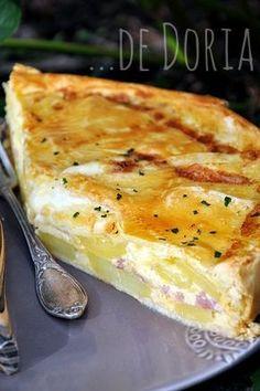 I'd say, potato pie! potatoes in a pie crust with au gratin! Tourte aux pommes de terre, lard fumé et reblochon