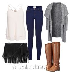"""Tenue Cécile"" by latiteislandaise on Polyvore featuring mode, New Look, Madden Girl et White House Black Market"