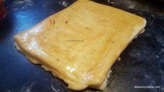 cum se taie decupeaza saratelele foietate cu branza sau cascaval afumat (1) Unt, Dairy, Food And Drink, Cheese