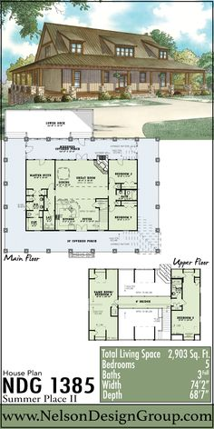 Rustic House Plans, Country House Plans, Farmhouse Plans, Log Homes For Sale, Bedroom House Plans, Next At Home, Lake View, House Colors, Great Rooms