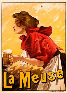 La Meuse by Mercier 1901 France - Vintage Poster Reproduction. This…