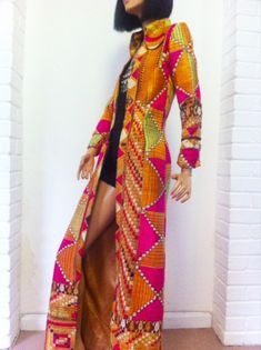 The most AMAZING 60s rock star MAXI coat on the planet // woven silk