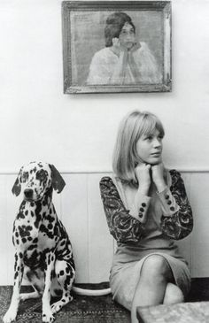 "Marianne Faithfull, 1964. ""Rebellion is the only thing that keeps you alive"""