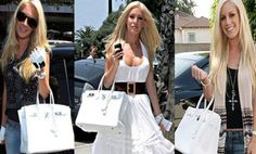 Good ole Heidi Montag just loves wearing her white Hermes Birkin bag everywhere she goes. And if you are in love with this look and Hermes is not in your budget, I suggest going with Miss #FAIRMONT from #justfabonline. I personally think she is just not fun if not more fun being that there is a cool pattern on the side. You may not be able to buy the brands they buy but there is always a way to bring the style to life!!! Look Fab on a budget!!