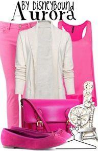 Disneybound Aurora outfit