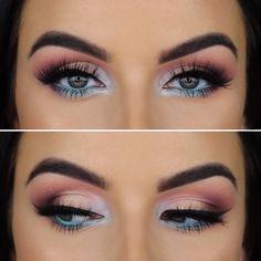 Makeup For Green Eyes, Blue Eye Makeup, Eye Makeup Tips, Eyebrow Makeup, Makeup Inspo, Eyeshadow Makeup, Makeup Ideas, Eyebrow Brush, Makeup Brushes