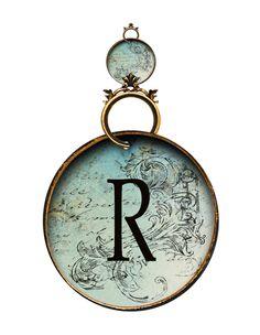 Alfabeto antiguo redondo....R