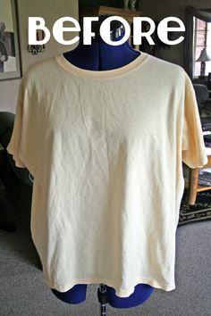 DIY ruffle t shirt refashion
