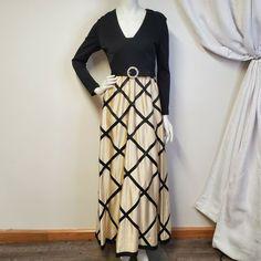 Women/'s LONG SKIRT Chevron Zigzag Red//Black//Off-white High Waist Maxi S//M//L//X