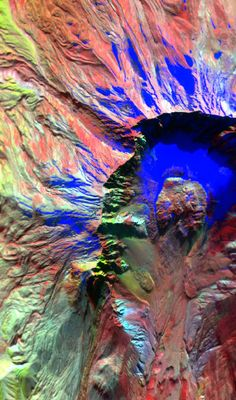 NASA infrared image of Mt. St. Helen the day before its 2004 eruption