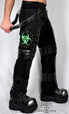 Cryoflesh Biohazard Decay Cyber Industrial Punk Pants