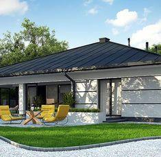 Z378 to wyjątkowy dom z kategorii projekty domów do 150 m2 House Outside Design, House Front Design, Modern House Design, Home Building Design, Home Design Plans, Building A House, House Plans Mansion, Dream House Plans, 4 Bedroom House Designs