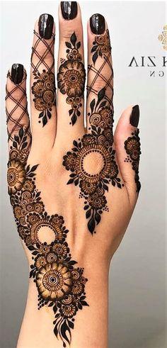 Pretty Henna Designs, Modern Henna Designs, Indian Henna Designs, Latest Henna Designs, Floral Henna Designs, Finger Henna Designs, Henna Tattoo Designs Simple, Mehndi Designs Feet, Modern Mehndi Designs