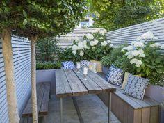 Fulham Garden Design – Garden Club London - All About Balcony Garden On A Hill, Garden Club, Terrace Garden, Garden Spaces, Home And Garden, Garden Table, Garden Design London, Back Garden Design, London Garden