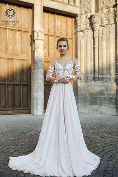 Wedding dress FILISI Long sleeve wedding dress simple