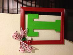 My Christmas DIY wreath. - maybe frame a paper xmas tree? Or do silvers & whites and frame a snowflake?