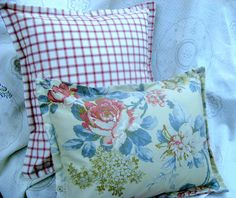 LAKEHOUSE SET  Pair 2 Custom Made Pillow Shams   by Sew1Pretty
